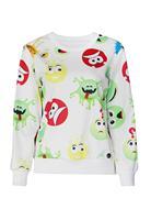 New Printed Sweatshirt Hoodies Emoji Women Pullover Cute Emoji Print White Sweatshirt  LC25350 Casual Suit Track Suits
