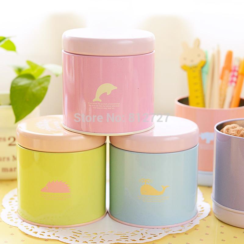 9140 especiais papelaria Pai talentoso coreano moda rodada sombra animais alojado caixa de lata pequena(China (Mainland))