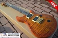 New! 24 custom guitar, Brown Tiger grain veneer, mahogany, PRS electric guitar free shipping