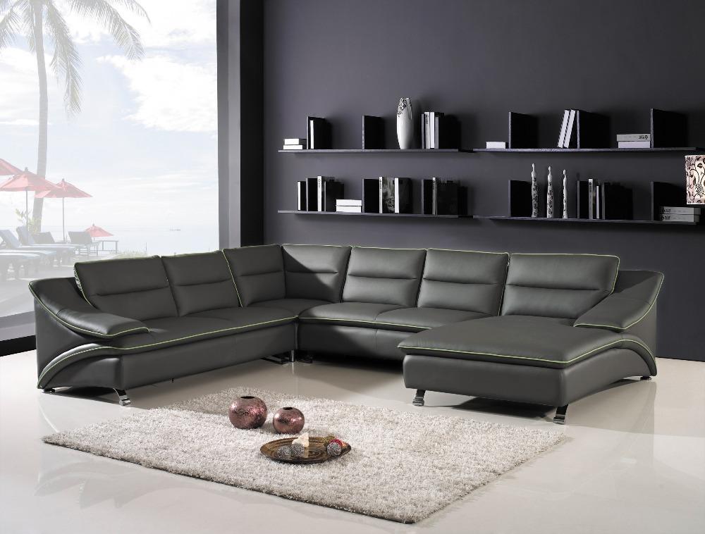 Online kopen wholesale grijze hoekbank uit china grijze for V shaped living room