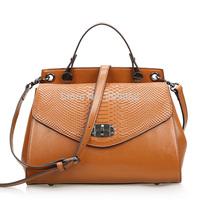 New arrival real leather handbag shoulder bag women handbag serpentine leather bag