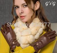 GSG   Ms.   Thick sheepskin leather gloves warm wind     IGSSFW12095