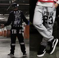 2015 Fashion street pyrex lovers design hiphop wei pants casual sports harem pants plus size