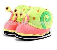 2015 new arrival lovely-eye snail slippers home warm slippers gift for children