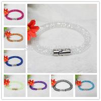 Wholesale Stardust Bracelets Mesh Chain With Full Resin Crystal Inside Magnetic Wrap Bracelets Charm bracelets bangles Jewelry