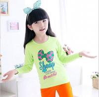 new arrive baby girls princess shirts flower girl spring bowknot printing shirt children fashion casual T-shirt JL-2178