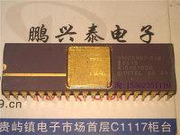 MC8087-2/B , 16-BIT, MATH COPROCESSOR, Gold ceramic package CDIP-40 / Arithmetic Processor , 8087 Vintage CPU Collectible