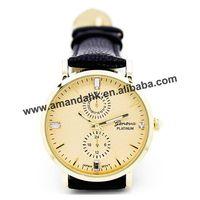 100pcs/lot New Fashion Geneva Leather Wristwatch Four Rhinestone Analog Casual Quartz Watches Women Rhinestone Dress Wrist Watch