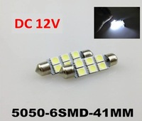 5050-6SMD-41MM LED reading lamp  on top of the car license plate light trunk light