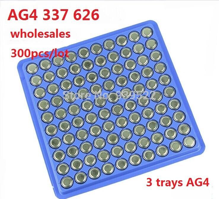 300 pcs/lot AG4 SR626SW LR626 LR66 377 V377 щелочная 377A SR626 177 ga4, Часы кнопочный элемент монета аккумулятор