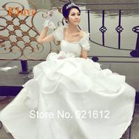 Fashionable Sexy Renda Gown Vintage Casamento Bride Festa Longo Romantic Vestido De Noiva Organza Mariage Wedding Dress WDF23