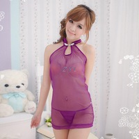 Wholesale sexy lingerie manufacturers agent tenderness Bride lace jumpsuit cheongsam dress 196