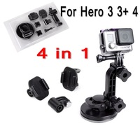 8.5CM low-angle Acessorios Gopro Car Suction Cup Adapter Camera MONOPOD Tripod Mount for go pro hero 3 3+ 4  Free Shipping