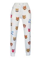 New Emoji Style Pants Animal Emoji Print Fashion White/Black Pants LC79573 Long Joggers Trousers Sportswear Autumn/Winter