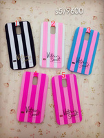 Victoria/'s Secret PINK Case For Samsung Galaxy S5 I9600 Luxe Soft Silicone Stripe Case Covers,free ship