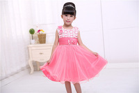 Retail New arrive 2015 girl dress,flower girl dresses children dresses kids wedding party  tutu elegant clothing casual dress