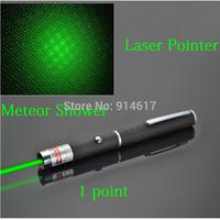 Adjustable Red Green Purple 500mw Laser Pointer LED Flashlight