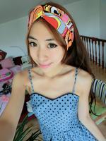 free shipping lady fashion cotton twist headband, women printed headband