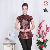 The new middle-aged mom summer buttercup silk short-sleeved dress shirt Silk Slim sexy minidress