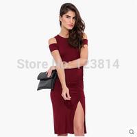 Fashion Sexy Women Black Red Evening Dress Party Dresses Natural Waist Tank Top Asymmetrical Pleats Bust Package Vestidos D658