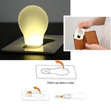nuovo disegno portatile della carta della tasca led della lampada della lampadina portafoglio dimensione nvie(China (Mainland))