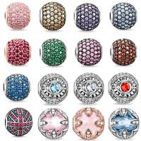 925 silver DIY beads for women bracelet gold plated bead Free shipping 2014 new Fashion men Jewlery balls girls charms bracelets