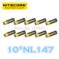 FREE SHIPPING  ORIGINAL 10 Pcs NL147 Nitecore 14500 Li-ion Rechargeable Battery 750mAh 3.7V 2.8Wh
