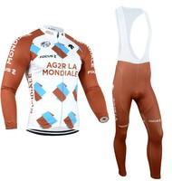 2014 Men AG2R LA MONDIALE Ropa ciclismo long cycling jersey Bicycle bicicleta mountain bike maillot shirt clothing (bibs) pants