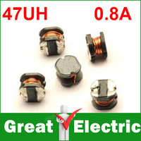 20PC/LOT CD32 47UH 0.8A Wound Power Inductors 20%  Free Shipping YXSMDZ502