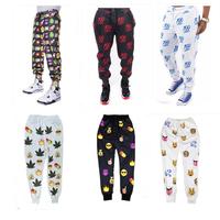 2015 3d print 100 Hundred points emoji Joggers pants smile face pants women men casual sport loose cute cartoon Free Shipping
