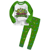 Retail Teenage Mutant Ninja Turtles boys children cartoon long sleeve clothing sets kid's clothing suits sct007