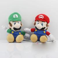 10PCS Cute Super Mario Bros.Sitting MARIO & LUIGI Plush Doll Toy 15cm New Wholesale Free Shipping