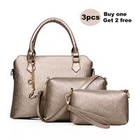 3 Pieces Set Women Handbag Fashion Women Tote Shoulder Bag Casual Women Messenger Bags HB-232