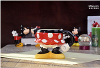 Wholesale Mickey Mouse shape cup Family household ceramic cup Hand-painted ceramic goblets