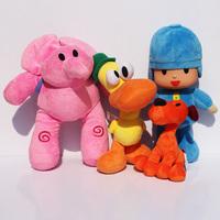 Newest 4pcs/lot Kids Brinquedos Gift Pocoyo Elly & Pato & POCOYO & Loula Stuffed Plush Toys Good Gift For Children Free Shipping