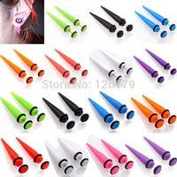 8 Colors U choose! 1Pair New Illusion Ear Fake Cheater Stretcher Rivet Taper Plug Tunnel Gauges 6-8MM