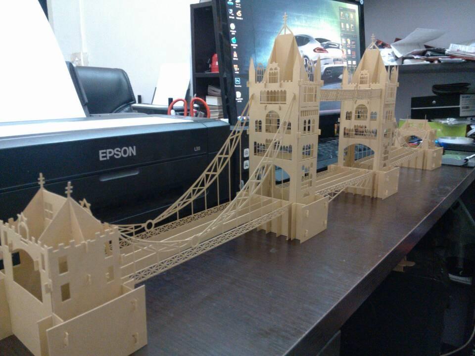 London Bridge Ancient Architectural Model Making Materials DIY Handmade Paper