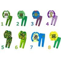 Retail Teenage Mutant Ninja Turtles boys children cartoon long sleeve clothing sets Pajama Sets kid's 8 styles