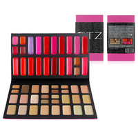 Free Shipping New Arrived 52 Colors Makeup Combination Set 29 Colors Face Concealer + 23 Colors Lip Gloss Palette Cosmetics Kit
