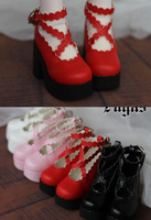 Lace Strap Ankle High Heel BJD Doll Boots 4colors for 1/3 SD, 1/4 MSD BJD Doll Luts AS,DOD,Doll Shoes Doll Clothes