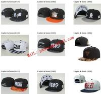 NewBrand Cayler Sons black Leather Snapback hat Flower sport hip pop bone baseball snapback cap for women men gorrossun era hat