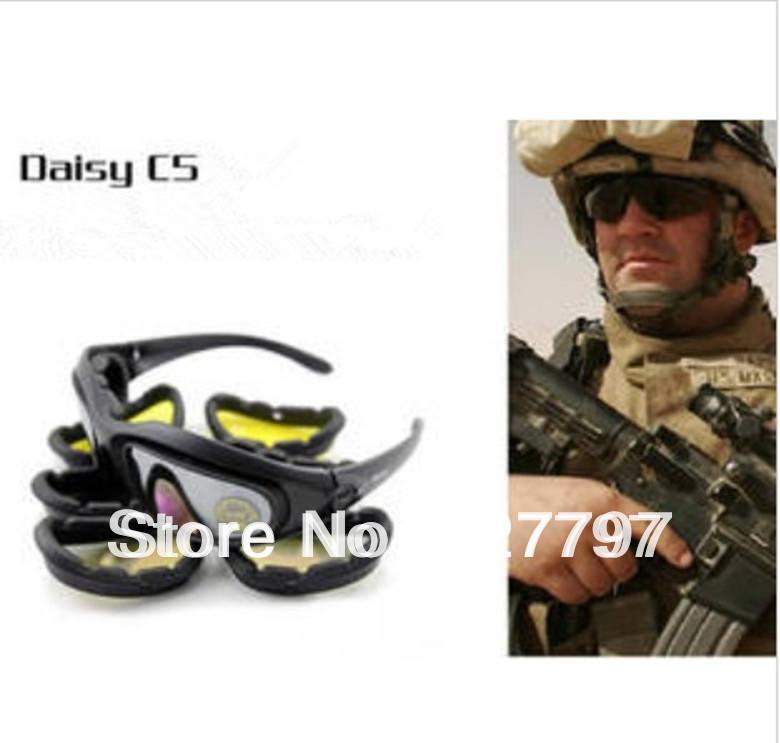 Daisy C5 Desert Storm SunGlasses Goggles Tactical Riding eyewear UV400 Glasses free shipping(China (Mainland))