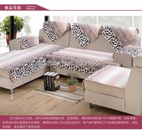 Free Shipping-Leopard style-European flannel winter thick cushion sofa cushion plush fabric slipcover sofa towel slip