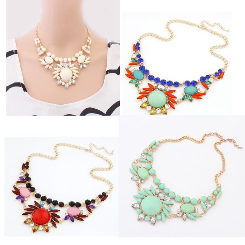 product Free Shipping Women Necklaces Fashion Jewelry Colorful Irregular Bubble Bib Statement Necklaces & pendants meus pedidos Cai0011
