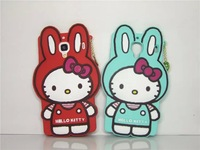Aomail New 3D Cute Cartoon Rabbit KT Silicone Back Case Cover for Xiaomi REDMI Free shipping