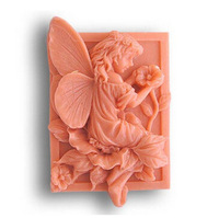 Soft Silicone Handmade Soap Candle Mold Mould - Flower Angel