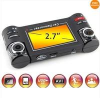 HD Car DVR Cam Recorder Dual Lens Vehicle 8 IR Lights Camera Dash Video SOS F30