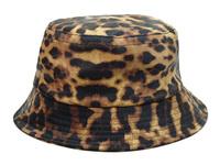 2015 new leopard leather buckets hats and caps for men/women sport hip hop mens womens fishing sun cap gorras bob hiking hat