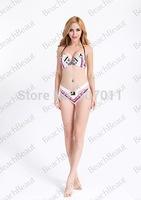 2015 national printing explosion models bikini swimsuit steel prop gather swimwear free shipping