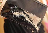 Black Medium Large capacity cosmetic wash bag / cosmetic bag / hand bag/ Cosmetic Cases